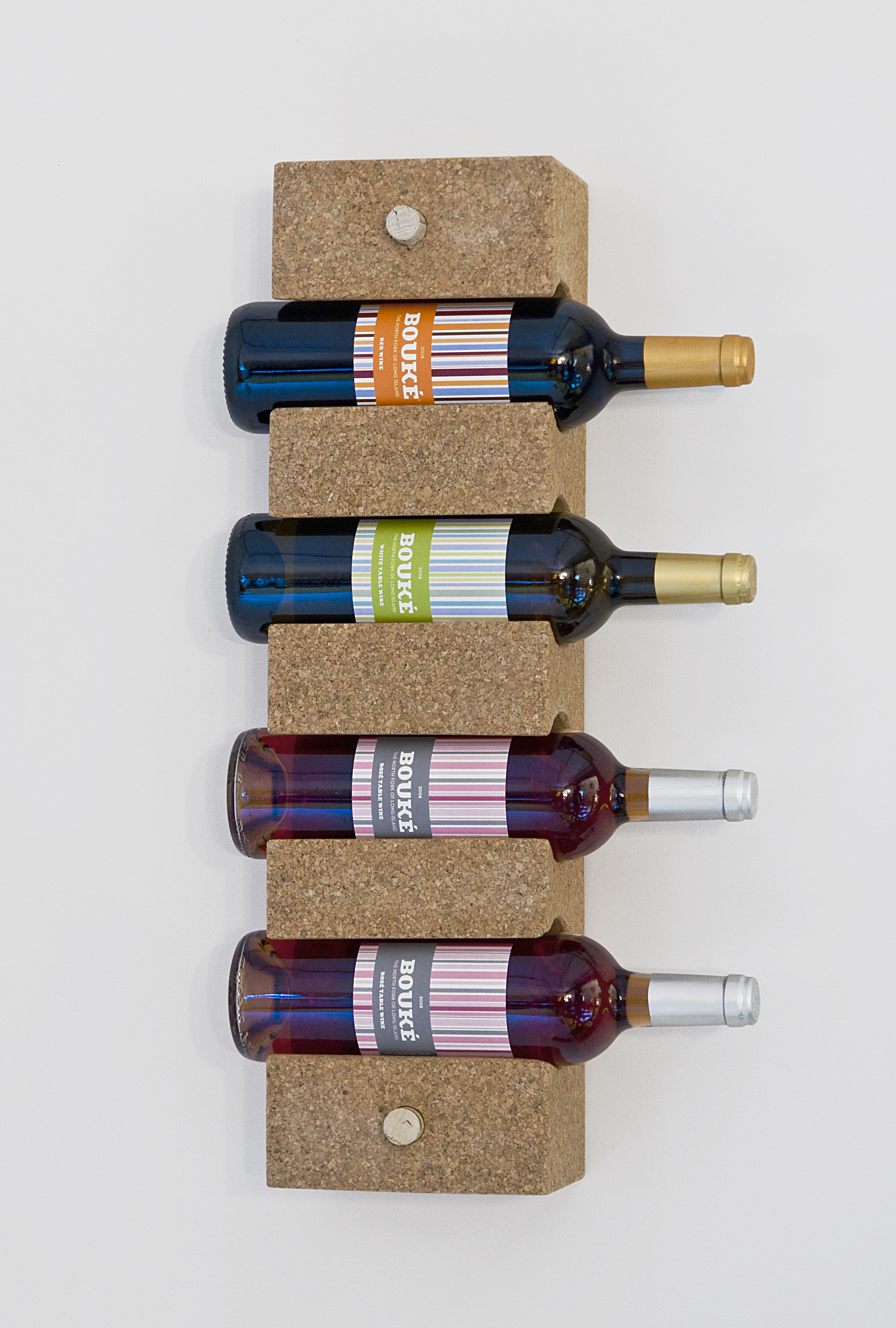 4-Bottle Wall-Mounted Cork Wine Rack